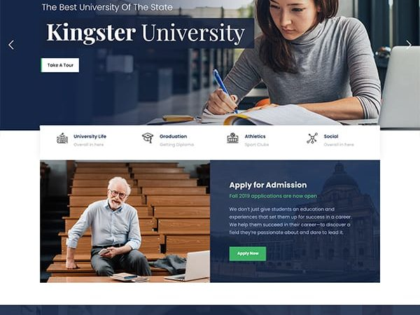11Education WordPress Theme For University, College and School is